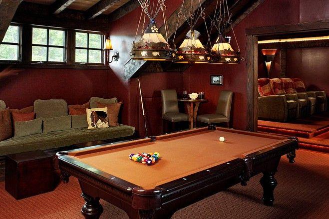 Colorado Equestrian Ranch Pool Table Room Pool Table Room Decor Pool Table Lighting
