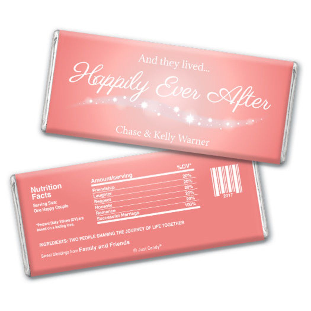 Wedding Favor Personalized Chocolate Bar \
