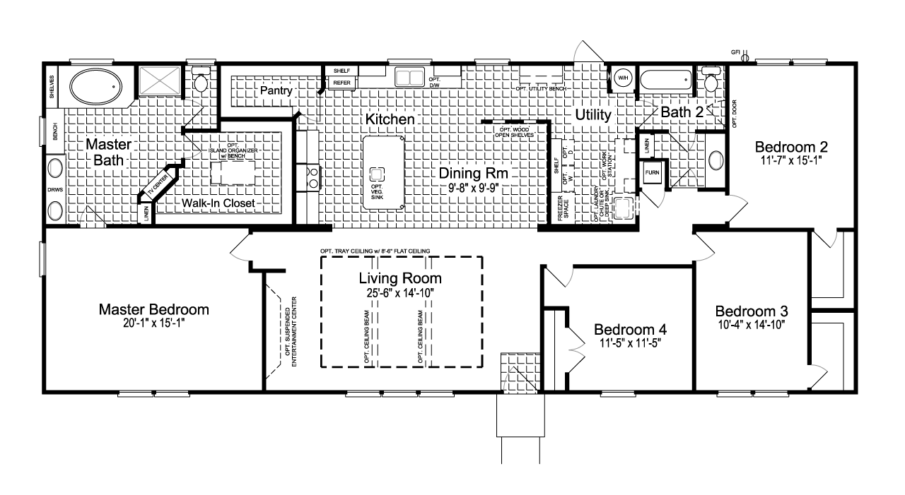 Floor Plan: The Canyon Bay II FT32764C