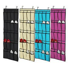 20 Pocket Over The Door Shoe Organizer E Saver Rack Hanging Storage