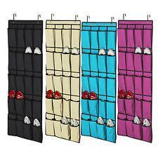 20 Pocket Over The Door Shoe Organizer E Saver Rack Hanging Storage