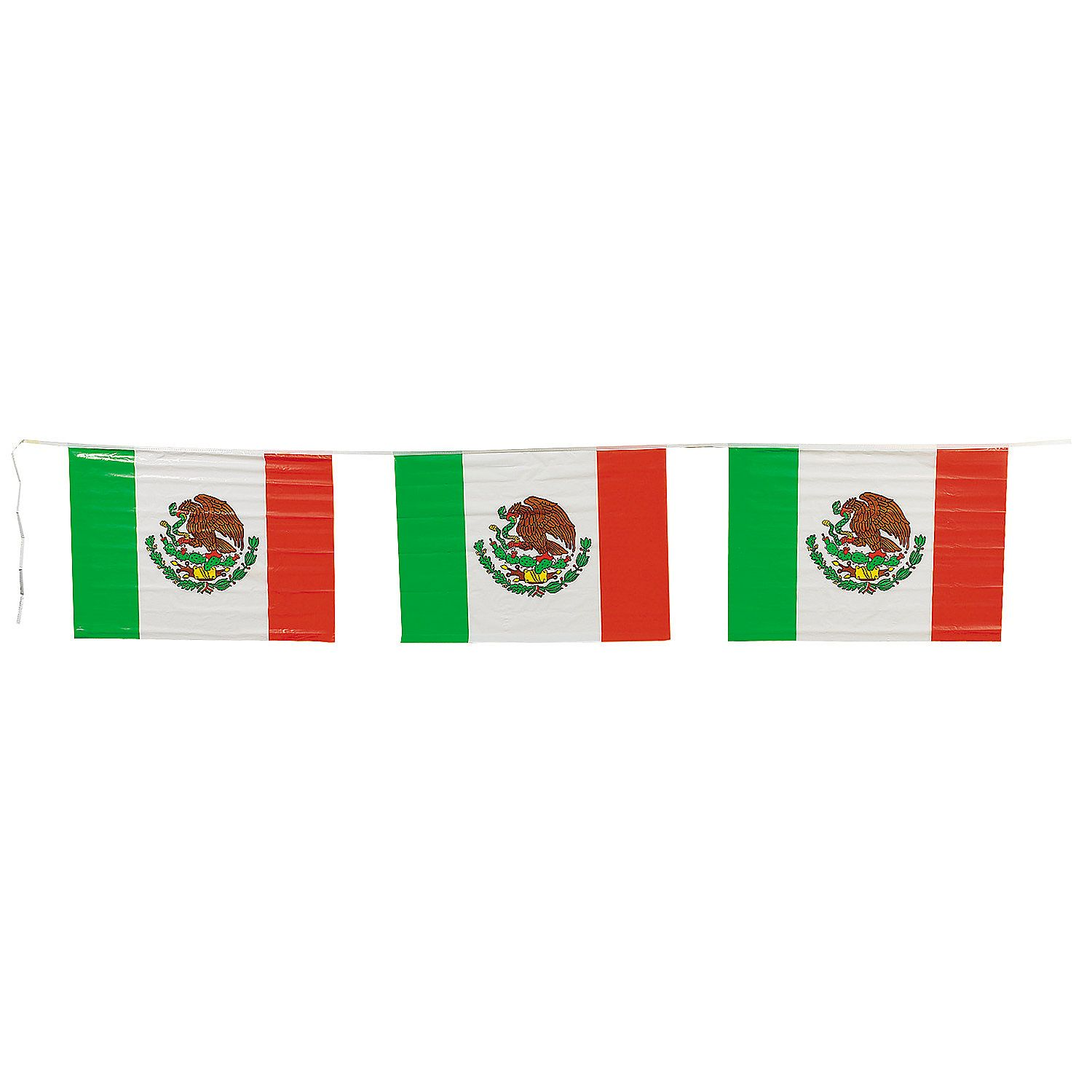 Mexican Flag Plastic Pennant Banner Oriental Trading Mexican Fiesta Party Decorations Pennant Banners Mexican Flags