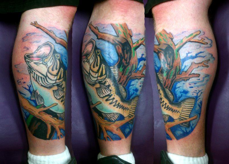Maori Largemouth Bass Tattoo: Pin Bass Fishing Tattoo On Pinterest