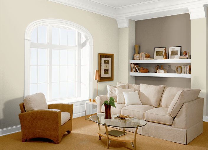 Behr colors for the living room rococo beige hdc nt 15 for Color tabacco mobili
