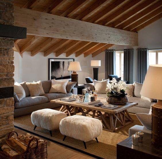 coconning chalet martine haddouche einrichtung pinterest wohnzimmer steinbock und. Black Bedroom Furniture Sets. Home Design Ideas