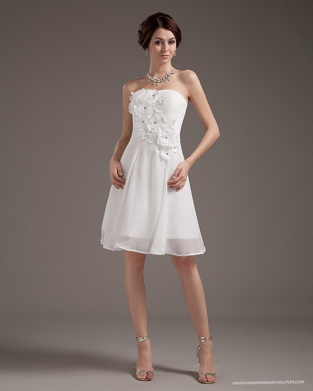 Mini wedding dresses  Chiffon Sleeveless Sweetheart Short Mini Wedding Dress  Bridal