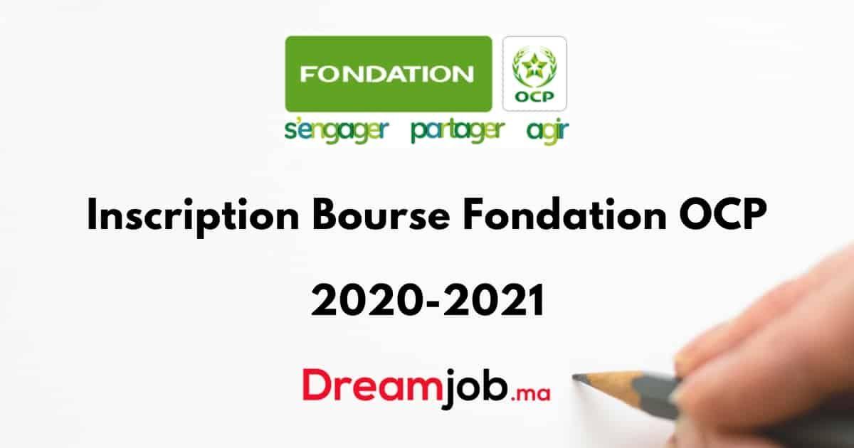 Inscription Bourse Fondation Ocp 2020 2021 Dreamjob Ma Bourse Enseignement Superieur Education Nationale