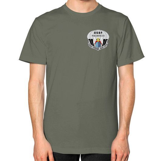 USAF Pararescue Unisex T-Shirt (on man)