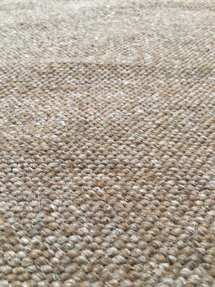 Heavy Wool Upholstery Fabric Loop To Loop 2 1 2 Yards Lt Brown
