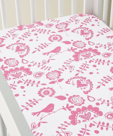 Love this Garden Pink HannaSoft™ Scandi Sheet Set on #zulily! #zulilyfinds