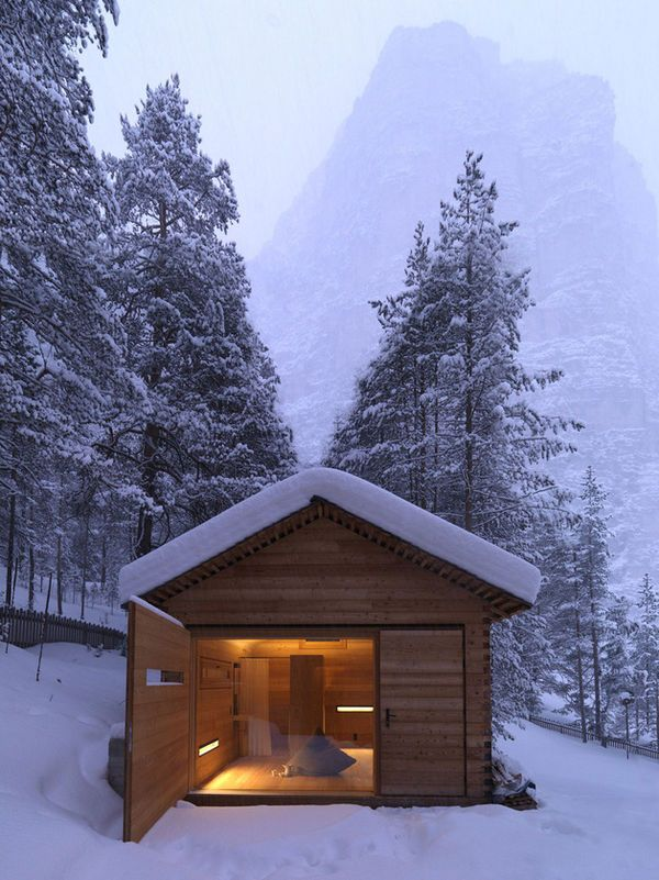 Minimalist Cabin minimalist italian chalets | cabin, minimalist and mountains