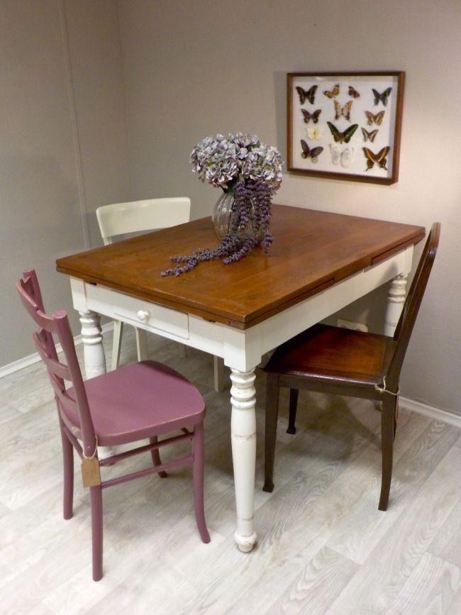 Shabby Chci Tisch mit schöner Patina! Shabby Chic im Retrosalon - kleiner tisch küche