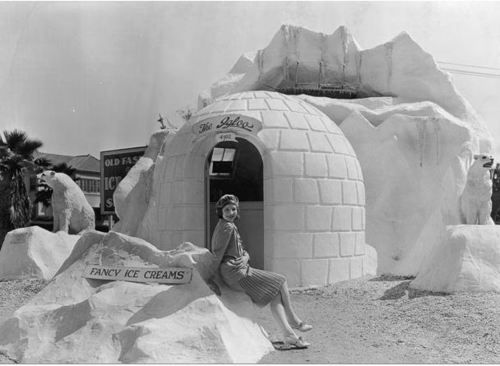 The Igloo ice cream parlour in Hollywood (1920s)