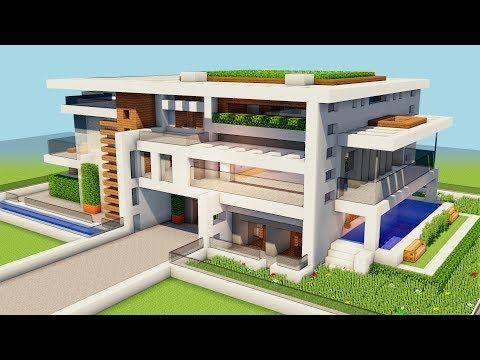 YouTube  minecraft  Casas minecraft Minecraft moderno y