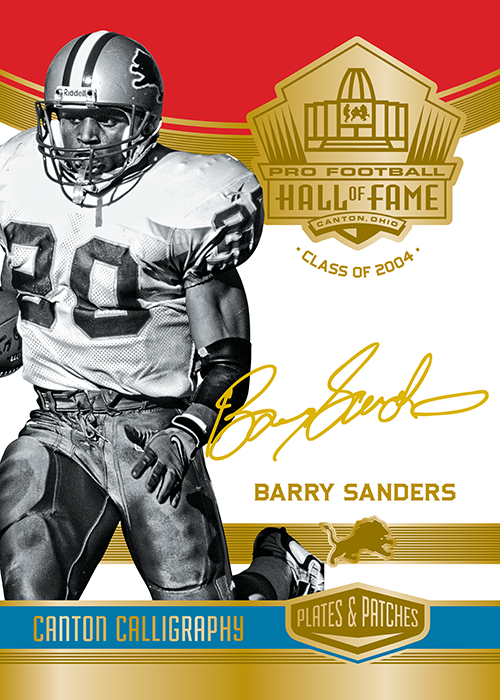 6c445f2e209 Barry Sanders Canton Calligraphy | Gridiron Greats | Calligraphy ...