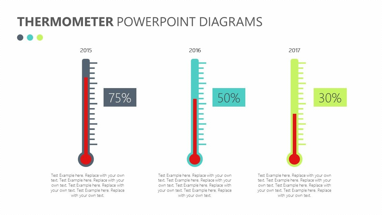 Thermometer powerpoint diagrams show your success or failure in a thermometer powerpoint diagrams show your success or failure in a unique way with the help ccuart Image collections