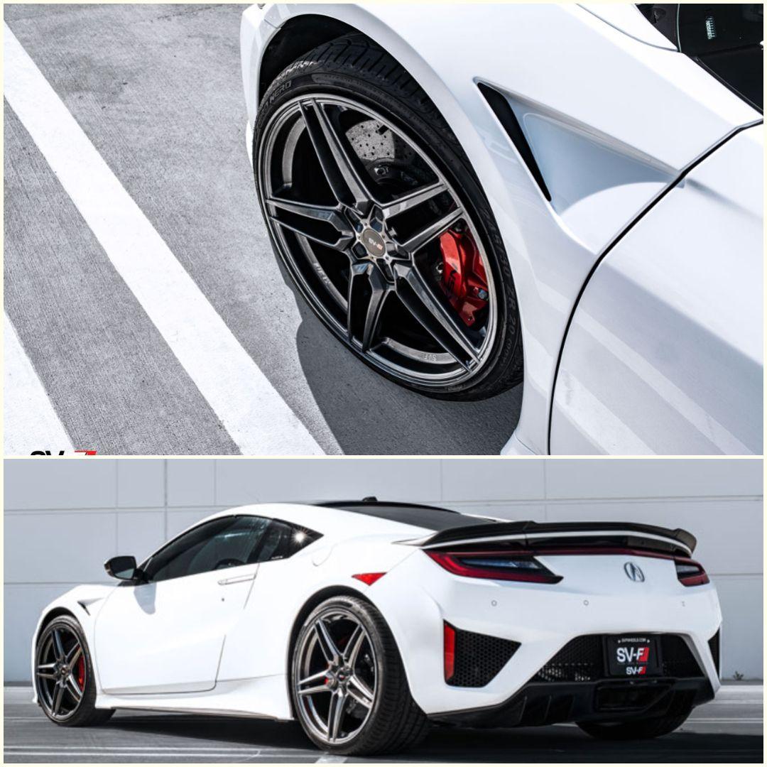 Acura NSX On Savini Wheels SV-F3. #parkinglotshowoff #pls