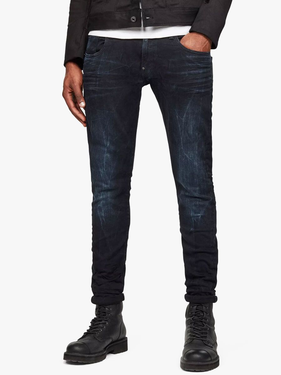 The G Star Revend Super Slim Jean In Dark Aged Men S Classic 5 Pocket Jean From G Starfitted Waistbandshort Risezip Fly With Evolve Clothing G Star Slim Jeans