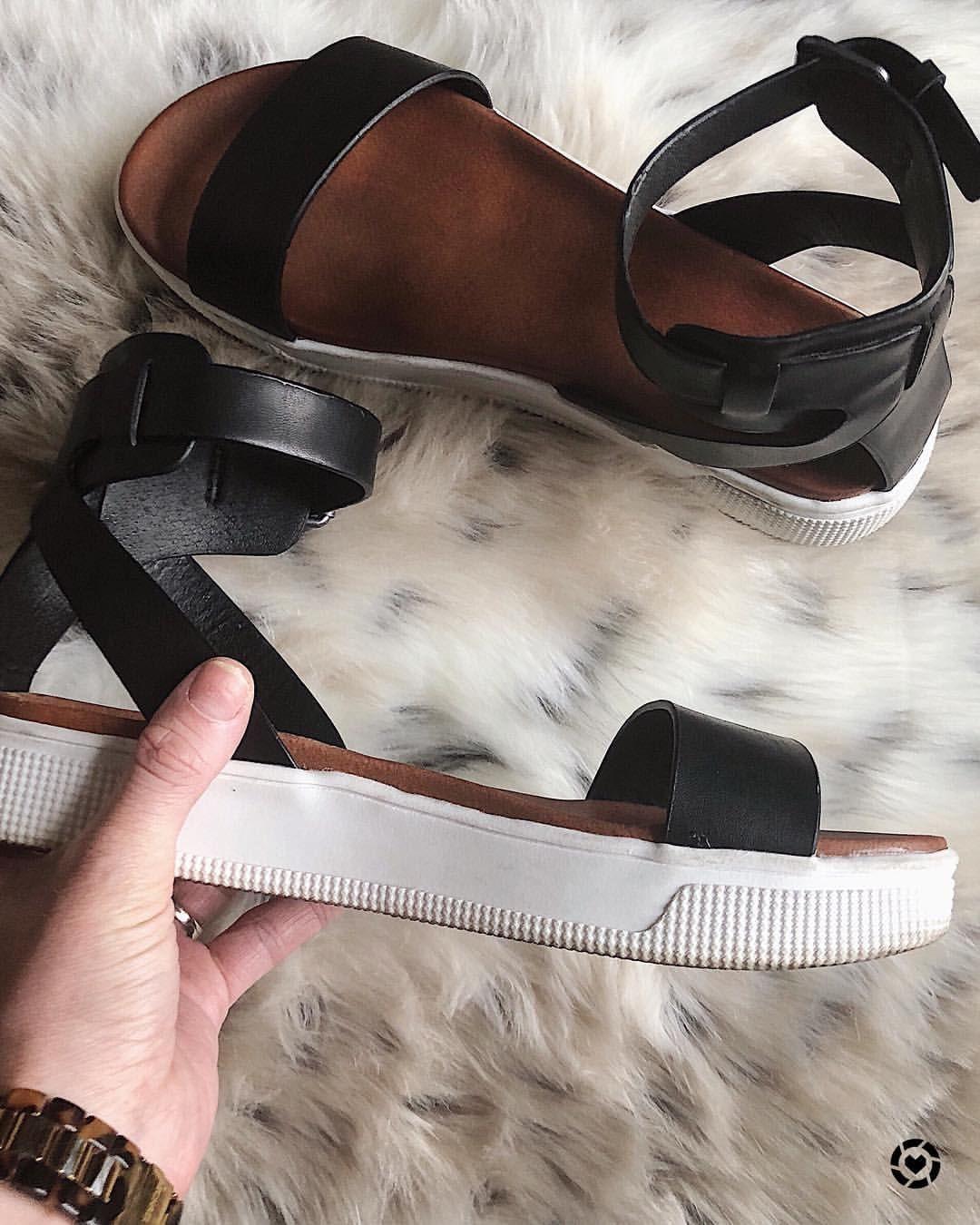 Black sandals | flatform sandals