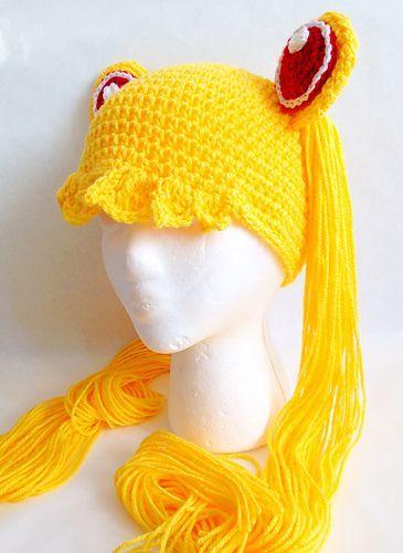 Sailor Moon Hat pattern by Casey Carroll