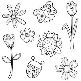 Pin By Tammy Welch On Designs To Paint Digi Stamps Flower Pattern Drawing Flower Drawing