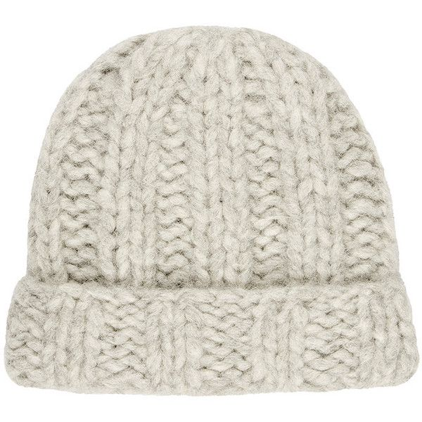 f3492e7ac48 Acne Studios Women s Jewel H Chunky Alpaca-Blend Beanie ( 89) ❤ liked on  Polyvore featuring accessories