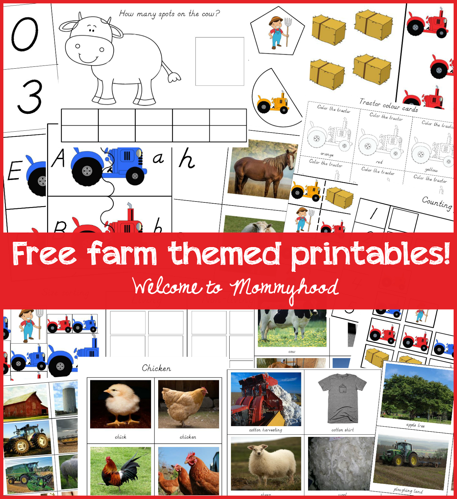 Free Farm Themed Printables For Preschoolers And Toddlers