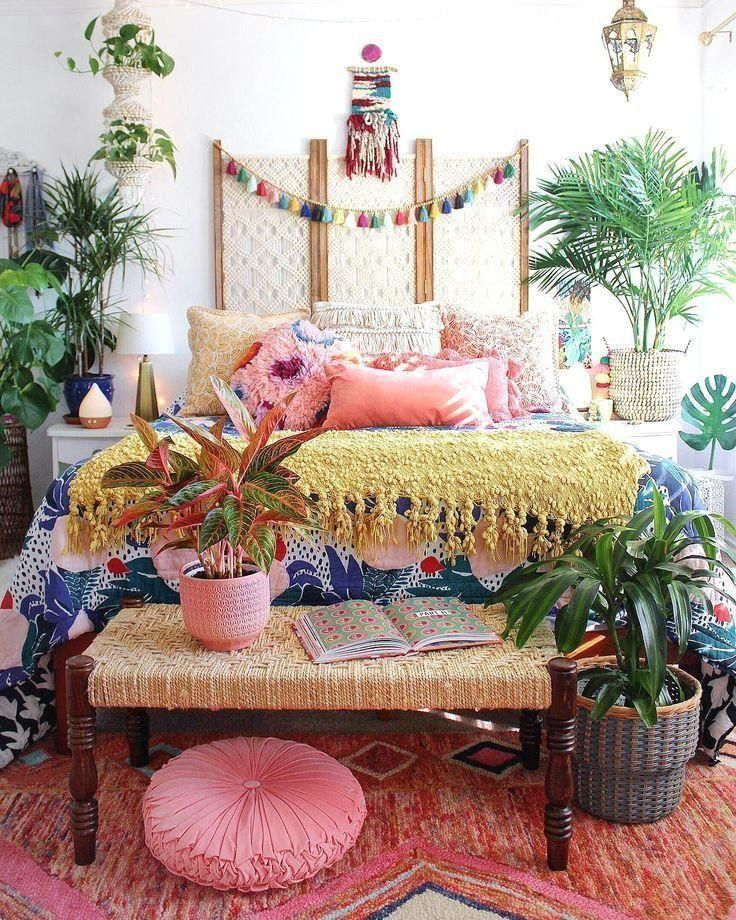 #bohemiandecor  #bohemianbedroom  #bedroomideas  #colorfuldecor  #bohodecor  #bohobedroom  #globaldecor  #tropicaldecor  #islanddecor #love #with  Fall in love with the behind the scenes of these interior designers work | www.delightfull.eu
