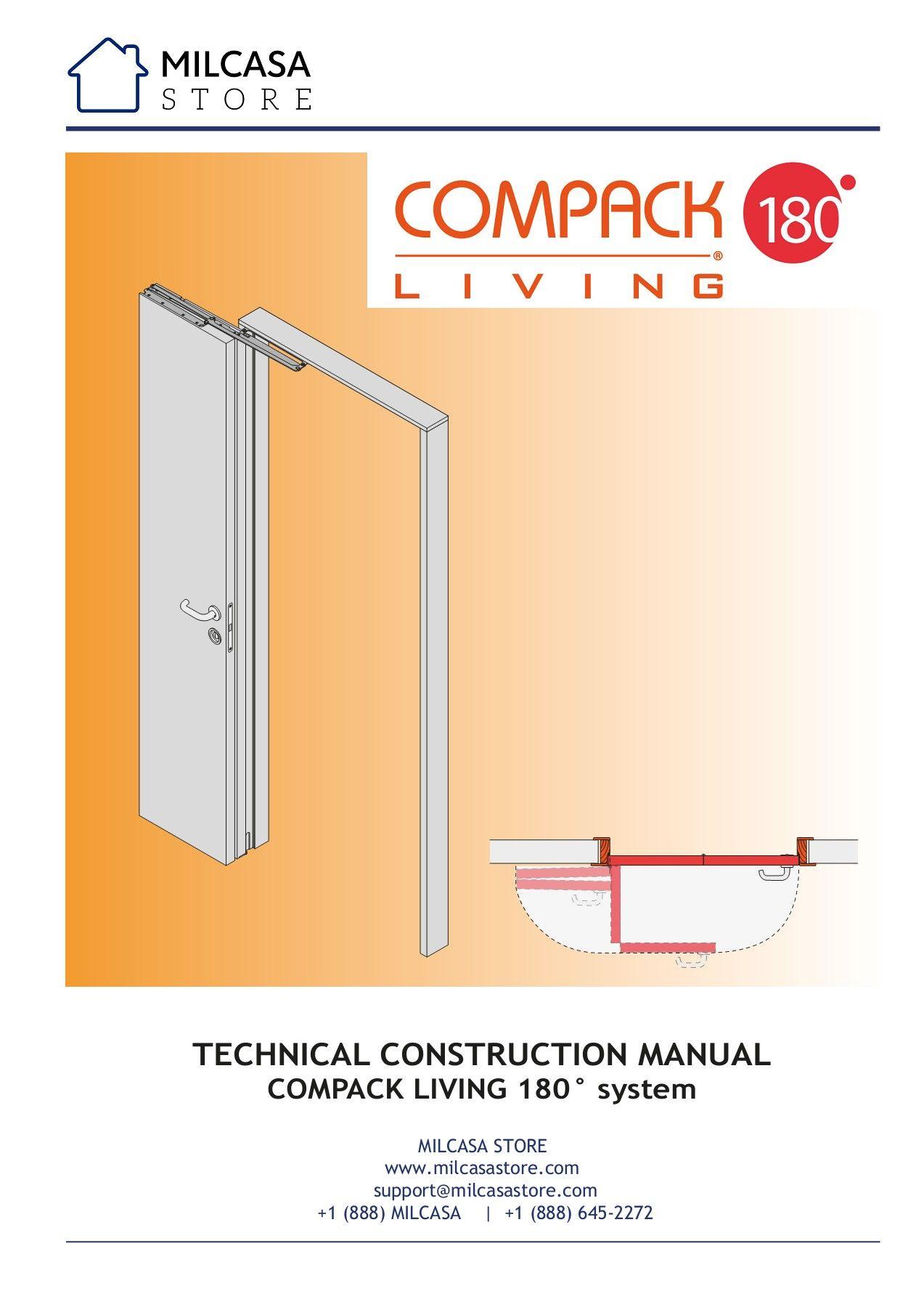 Compack Living 180 Installation Instructions Milcasa Store In 2020 Door Fittings Door Design Interior Room Partition Designs
