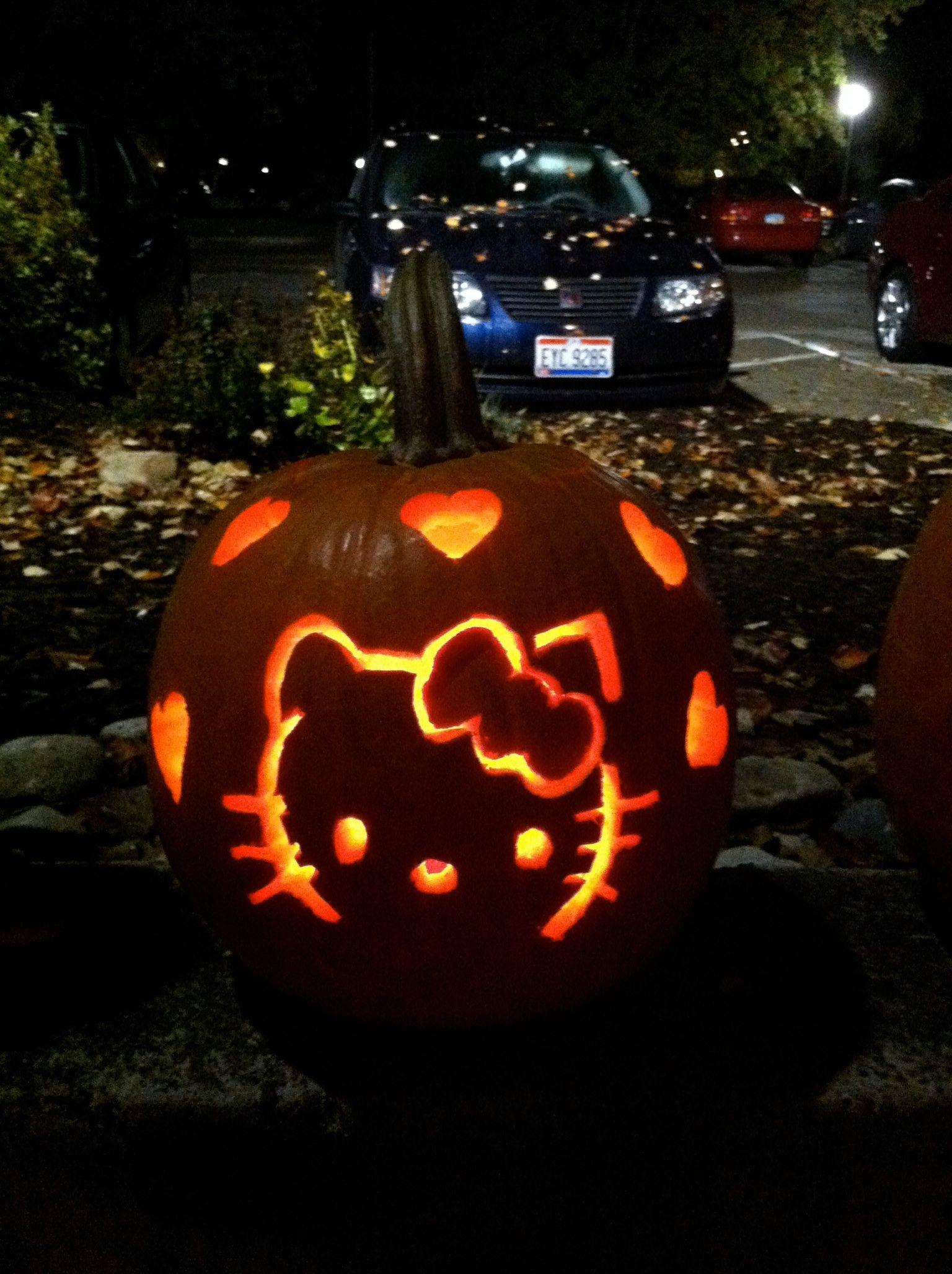 My hello kitty pumpkin | Holiday | Pinterest | To be, Hello kitty ...