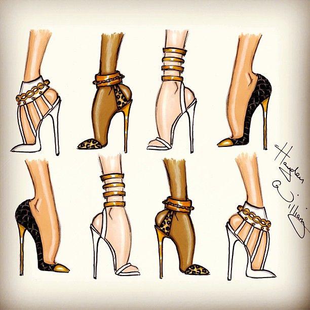 Shoe sketches.