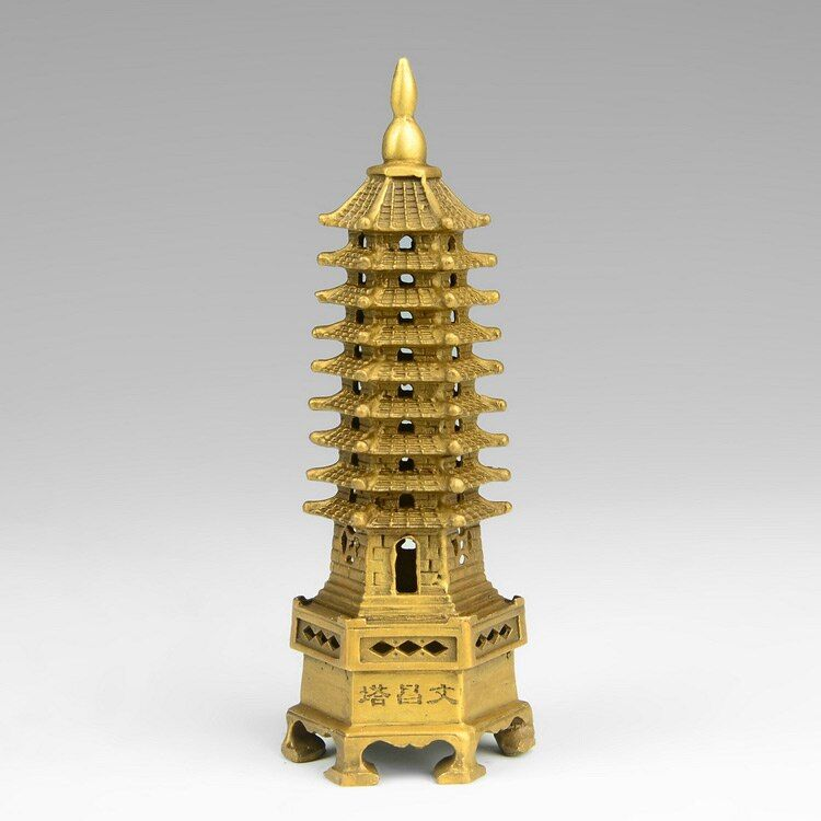 Chinese Buddhism Temple Decoration WenChang Tower Buddha Stupa Pagoda Statue