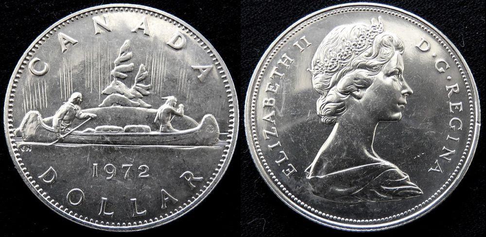Canada Dollar 1972 Voyageur Uncirculated Nickel 1 Canadian