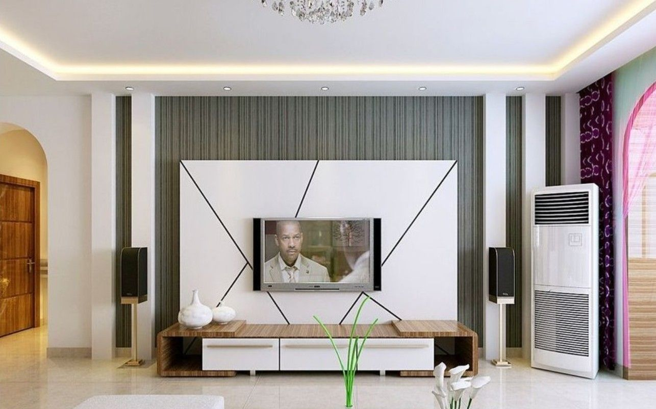 Elegant Wall Units Simple Dining Room Display White Tv