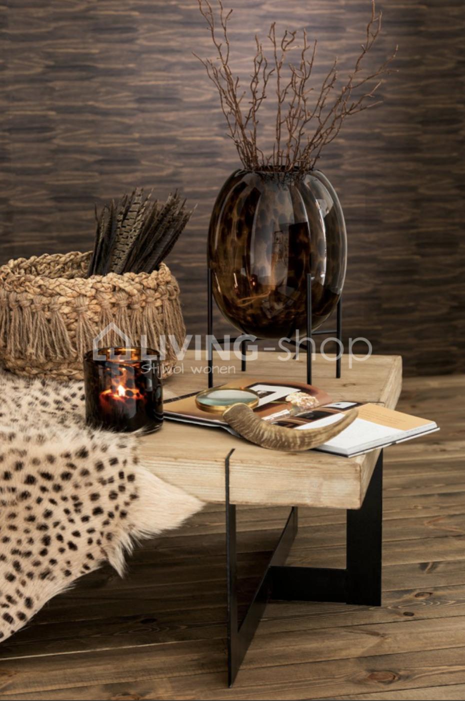 Spikkel Glas Vaas Op Voet Metalen Staander J Line Coffee Table Decor Interior Inspiration