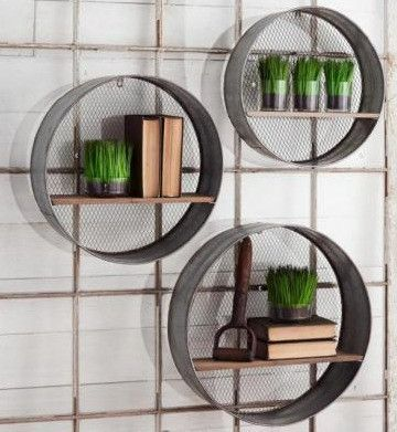 Round Metal Wall Shelves Metal Wall Shelves Round Wall Shelves