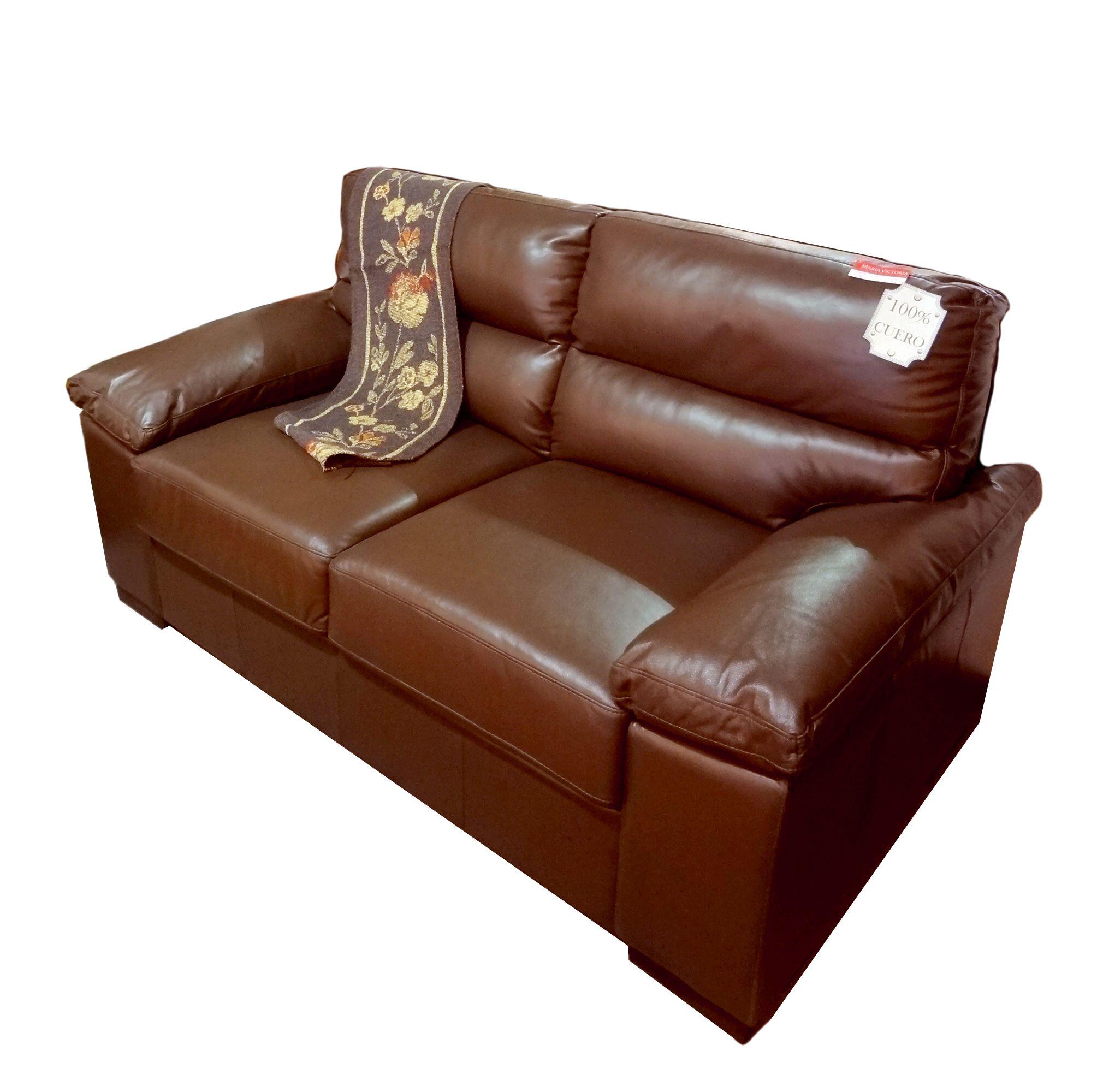 Sofá de cuero natural, disponible en 2 y 3 cuerpos. | Sillones ...