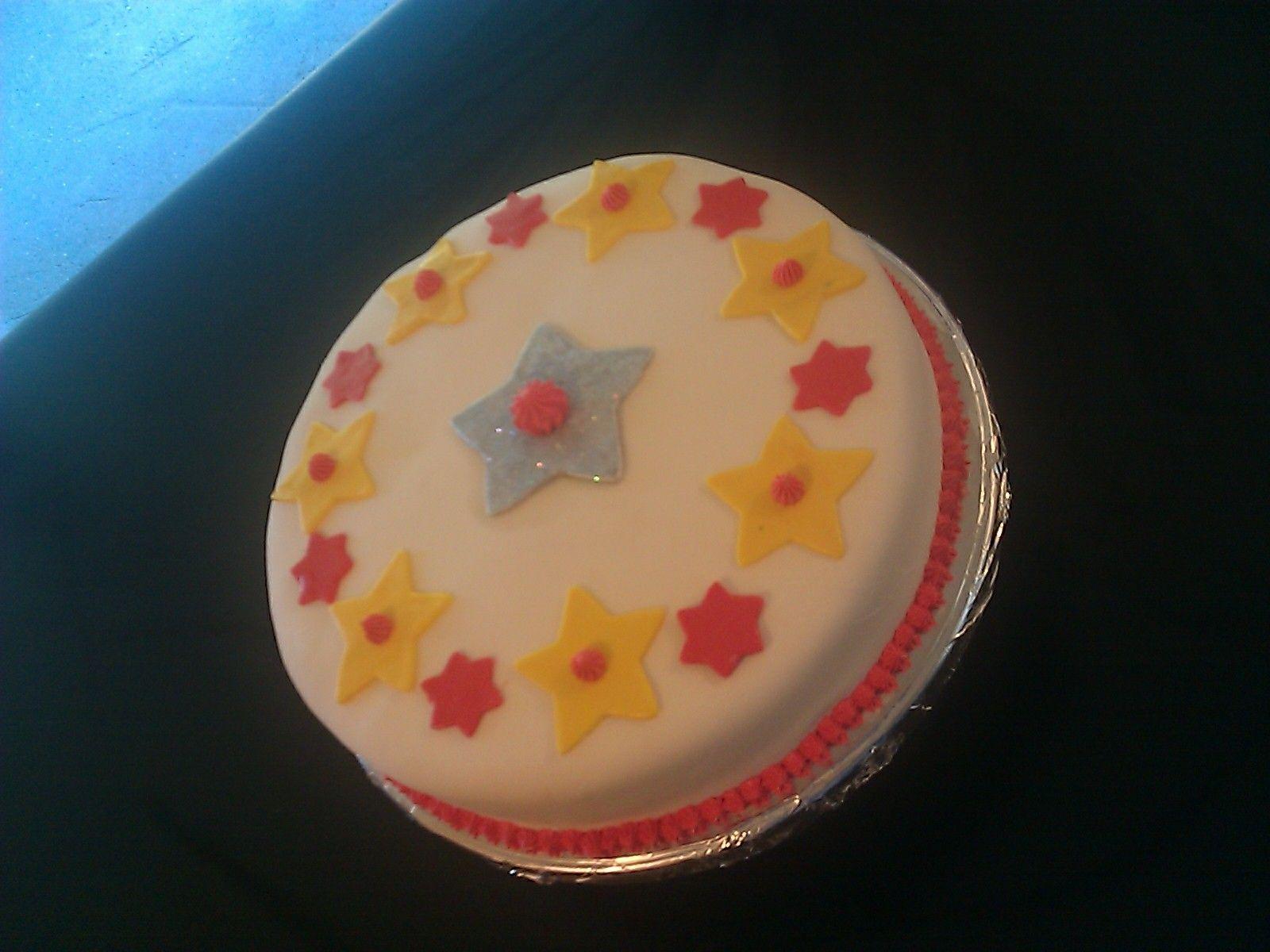 Fun Colored Fondant Cake