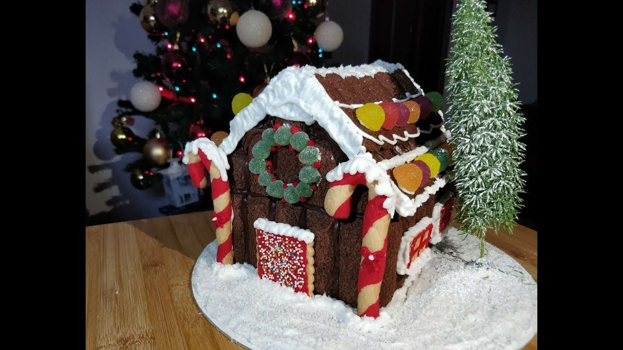 Casetta Di Natale Con Pasta Frolla : Casetta di natale con pavesini e pandoro farcito all interno
