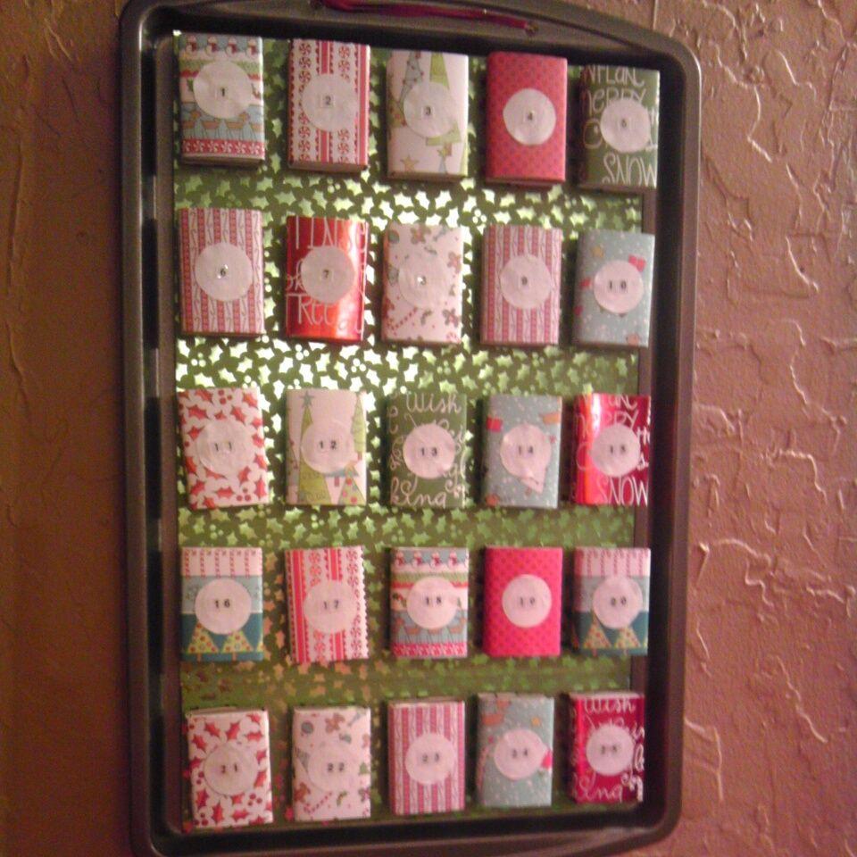 Christmas Advent Calendar using matchboxes