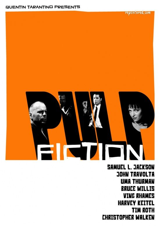 Alternative Movie Poster For Pulp Fiction Made By Geraldinez