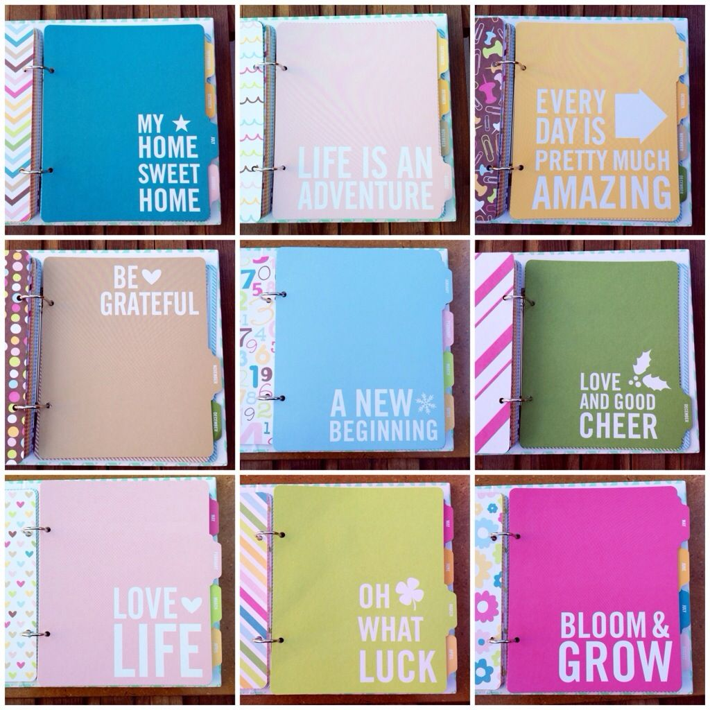 Project life planner title cards (do something similar on filofax dividers?)