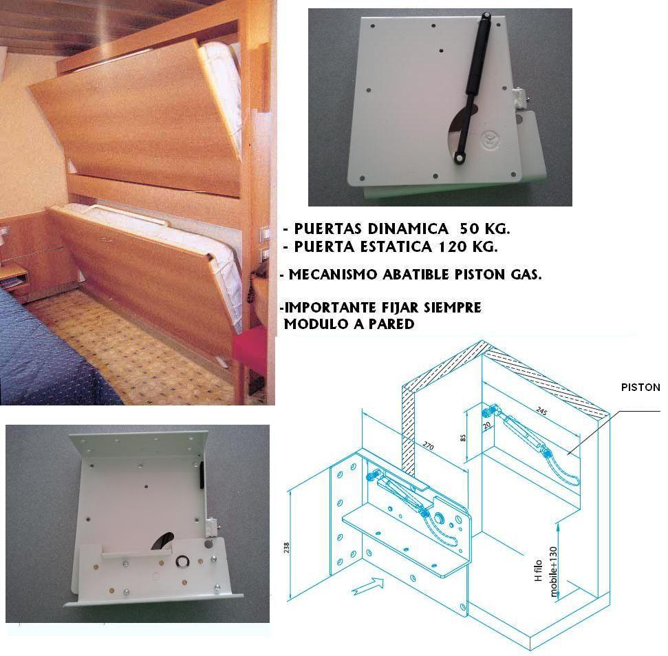 Mecanismo cama abatible mla 400 piston juego camas - Mecanismo para camas abatibles ...