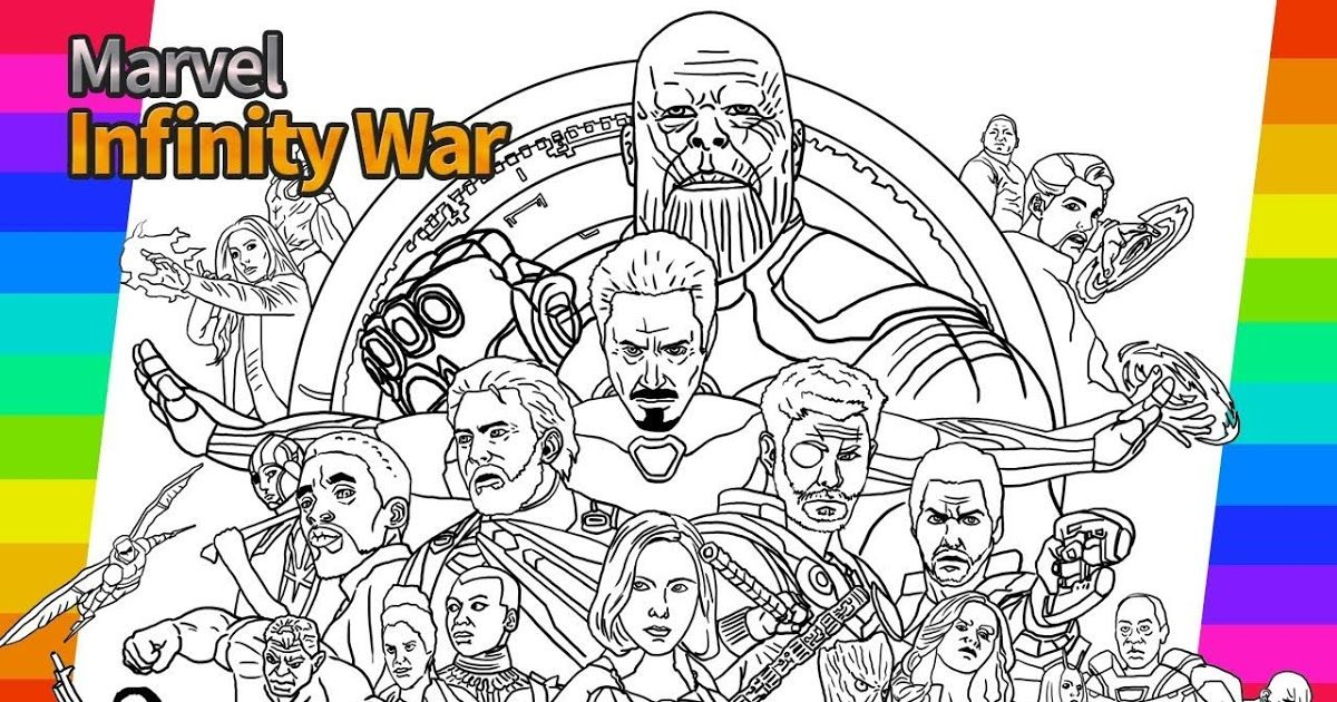 Avengers Coloring Pages Infinity War In 2020 Marvel Infinity War