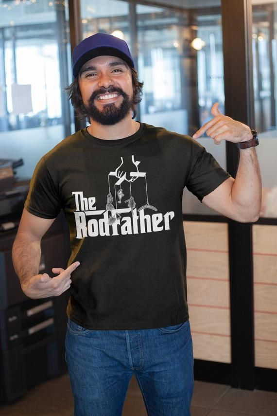 The RodFather Rod Father - Fishing Dad Father's Day Gift T-shirt | Birthday Gift for Dad   |   Camping Cottage Weekend sh-81 #mamp;mcostumediy