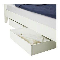 Vardo Underbed Storage Box Black 25 5 8x27 1 2 Ikea Under Bed Storage Bed Storage Storage Spaces