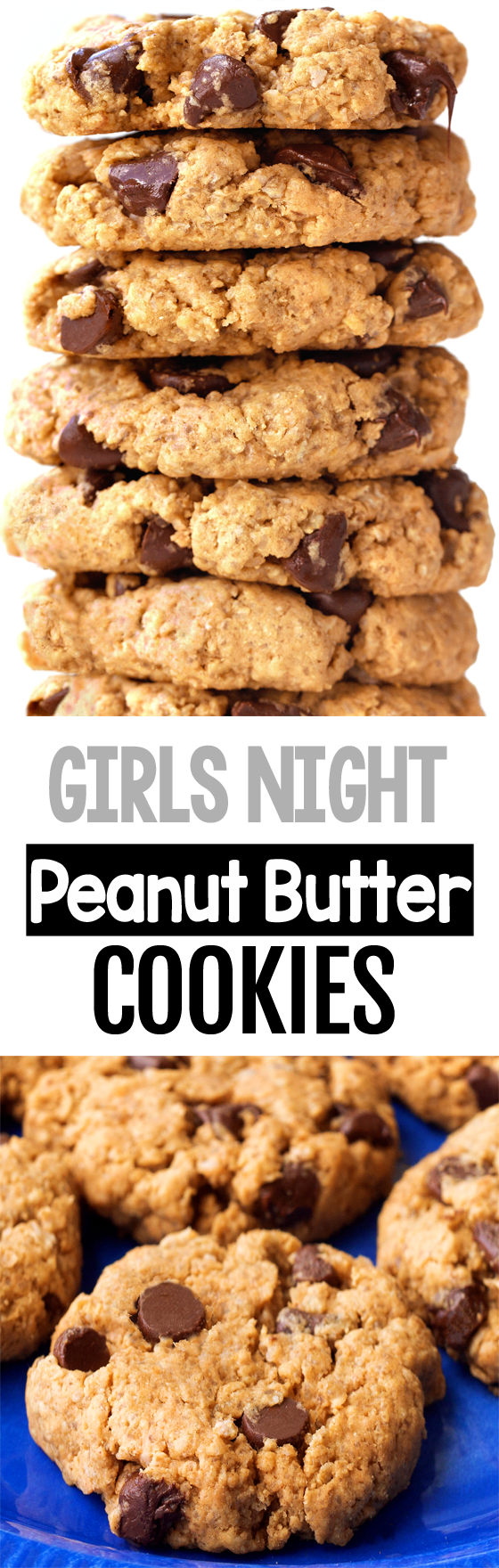 Girls Night Vegan Chocolate Chip Peanut Butter Cookies In 2020 Easy Baking Recipes Peanut Butter Chocolate Chip Cookies Vegan Cookies