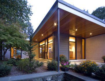 Modern Under Eave Lights Design Porch Roof Design Modern Exterior Lighting Mid Century Modern Exterior