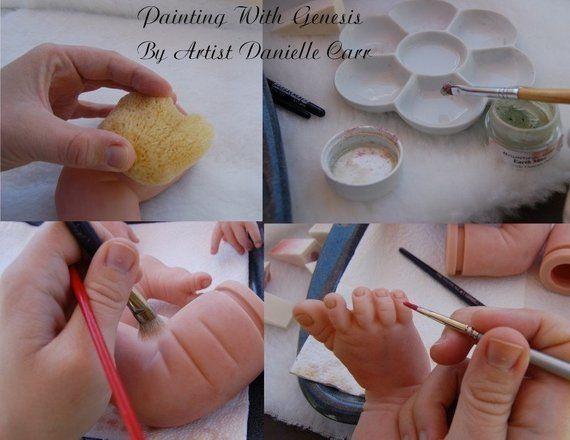 Mini tutorial for strawberry complexion genesis paint set.