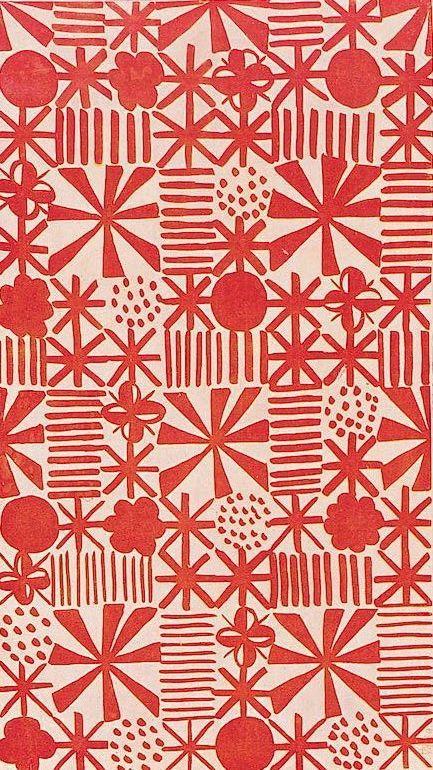 Printed textile design (1930) by Czech-born British ...